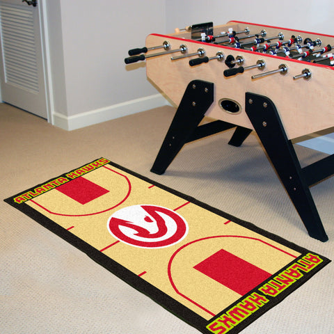 NBA Atlanta Hawks Basketball Court Carpet Runner Rug - Bed, Bath, And My Team