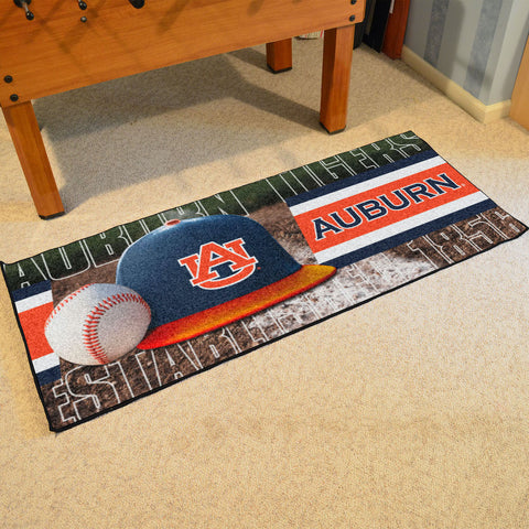 NCAA Auburn Tigers Baseball Logo Carpet Runner Rug - Bed, Bath, And My Team