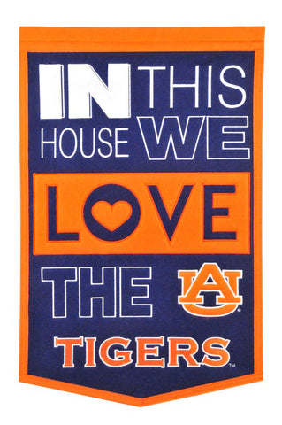 NCAA Auburn Tigers HOME Hanging Wool Banner - Bed, Bath, And My Team
