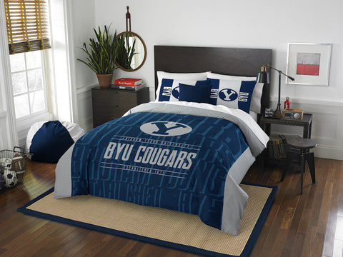 NCAA BYU Cougars Queen/Full Comforter and Sham Set - Bed, Bath, And My Team