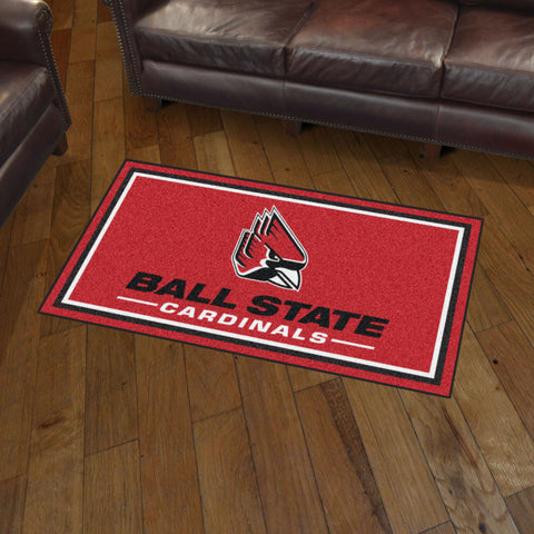 NCAA Ball State Cardinals 3 X 5 Ft. Plush Area Rug - Bed, Bath, And My Team