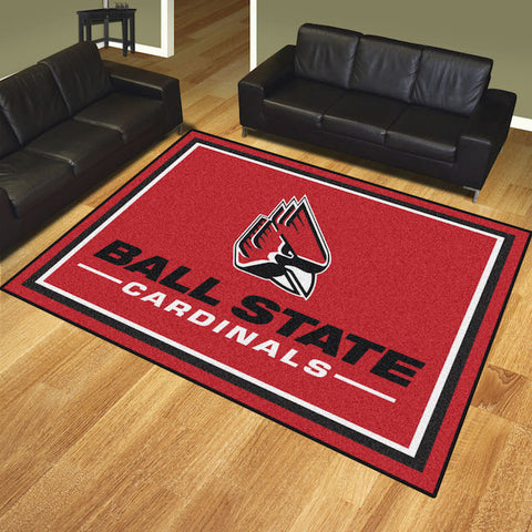 NCAA Ball State Cardinals 8 X 10 Ft. Area Rug - Bed, Bath, And My Team