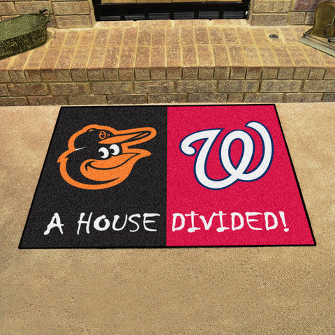 Baltimore OriolesWashington Nationals Rivalry Rug