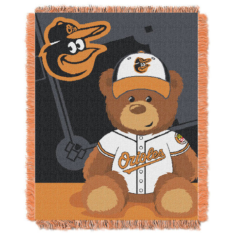 MLB Baltimore Orioles Baby Blanket - Bed, Bath, And My Team
