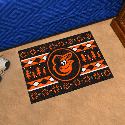 MLB Baltimore Orioles CHRISTMAS SWEATER Starter Rug - Bed, Bath, And My Team