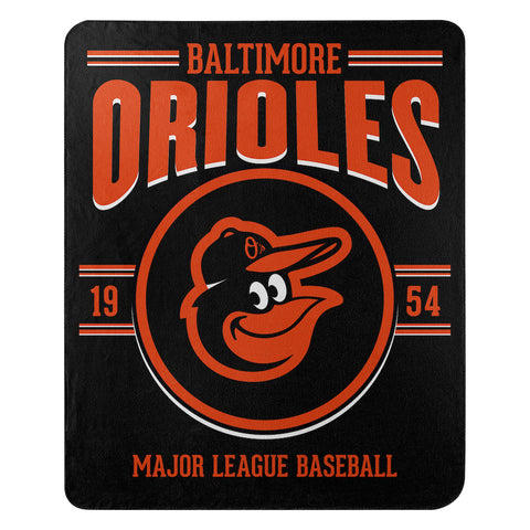 MLB Baltimore Orioles Fleece Throw ~ 50 x 60 - Bed, Bath, And My Team