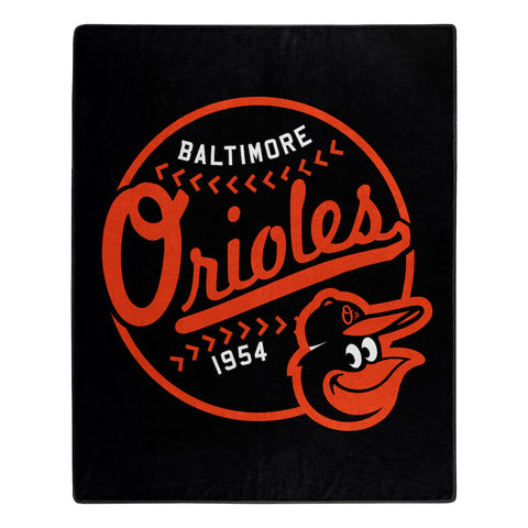 MLB Baltimore Orioles 50 x 60 Jersey Raschel Throw Blanket - Bed, Bath, And My Team