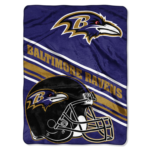 Baltimore Ravens large plush blanket