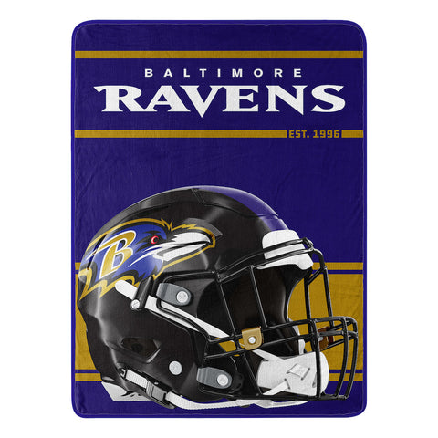 NFL Baltimore Ravens Micro Raschel Throw - Bed, Bath, And My Team