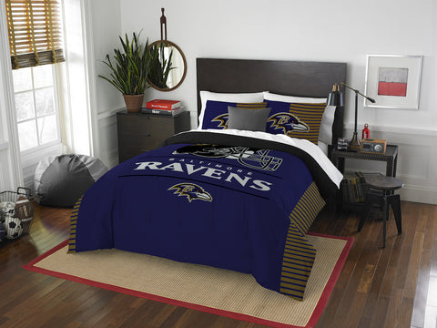 NFL Baltimore Ravens Queen/Full Comforter and Sham Set - Bed, Bath, And My Team