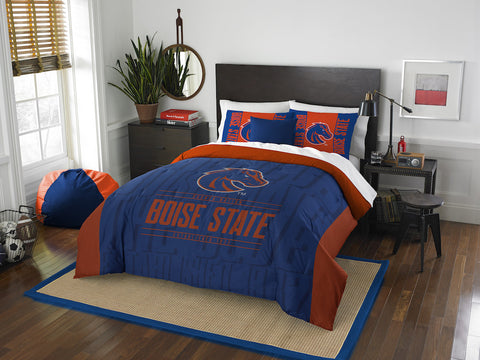NCAA Boise State Broncos Queen/Full Comforter and Sham Set - Bed, Bath, And My Team