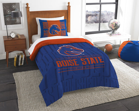 NCAA Boise State Broncos Twin Comforter and Pillow Sham - Bed, Bath, And My Team