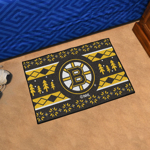 Boston Bruins Holiday Sweater Rug