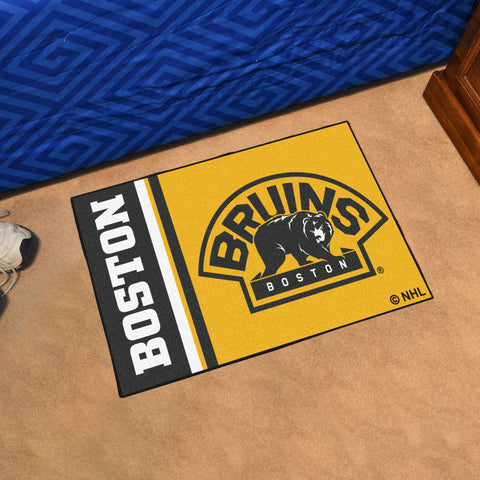 NHL Boston Bruins Uniform Inspired STARTER Rug - Bed, Bath, And My Team