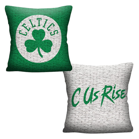 NBA Boston Celtics INVERT Throw Pillow - Bed, Bath, And My Team