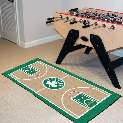 NBA Boston Celtics Basketball Court Carpet Runner Rug - Bed, Bath, And My Team