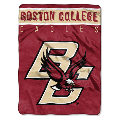 NCAA Boston College Eagles 60 x 80 Large Plush Raschel Throw Blanket - Bed, Bath, And My Team