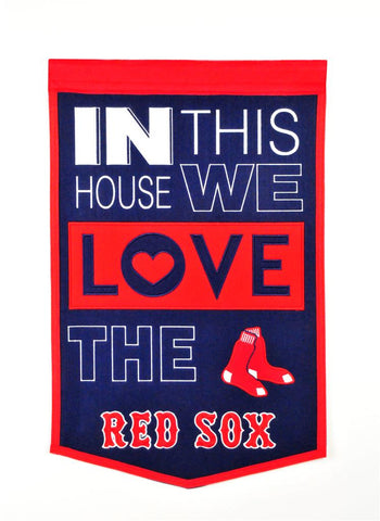 MLB Boston Red Sox HOME Hanging Wool Banner - Bed, Bath, And My Team