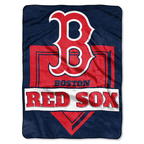 MLB Boston Red Sox 60 x 80 Large Plush Raschel Throw Blanket - Bed, Bath, And My Team