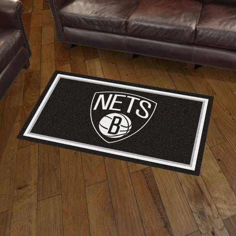NBA Brooklyn Nets 3 X 5 Ft. Plush Area Rug - Bed, Bath, And My Team