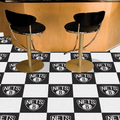 NBA Brooklyn Nets Carpet Tiles - Bed, Bath, And My Team