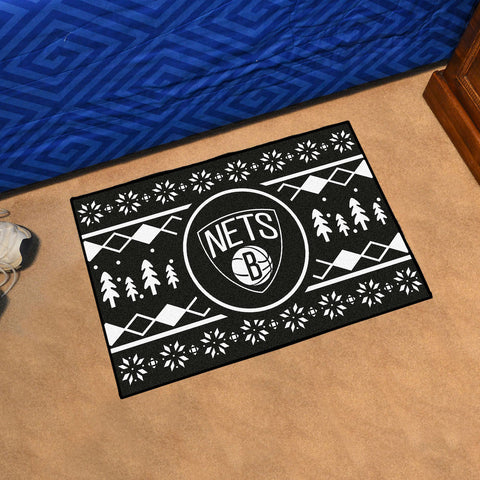 NBA Brooklyn Nets CHRISTMAS SWEATER Starter Rug - Bed, Bath, And My Team