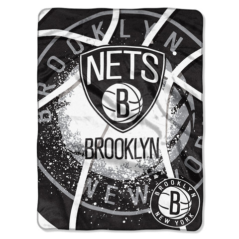 NBA Brooklyn Nets 60 x 80 Large Plush Raschel Throw Blanket - Bed, Bath, And My Team