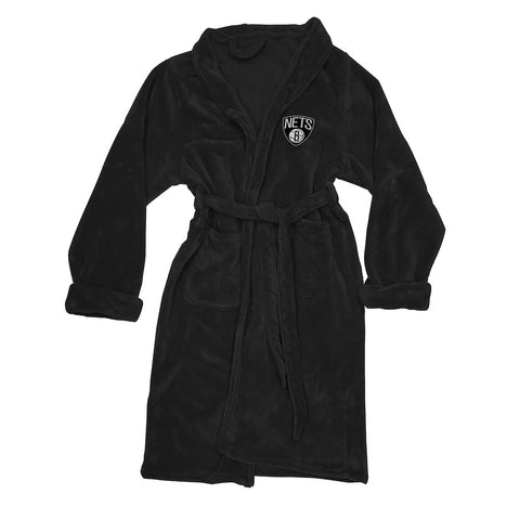NBA Brooklyn Nets Silk Touch Mens Bath Robe - Bed, Bath, And My Team