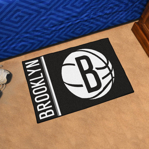 NBA Brooklyn Nets Uniform Inspired STARTER Rug - Bed, Bath, And My Team