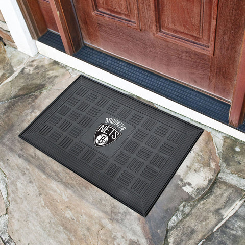 NBA Brooklyn Nets MEDALLION Doormat - Bed, Bath, And My Team
