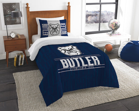 NCAA Butler Bulldogs Twin Comforter and Pillow Sham - Bed, Bath, And My Team