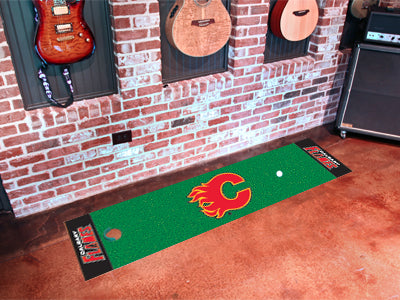 Calgary Flames Golf Putting Green Mat