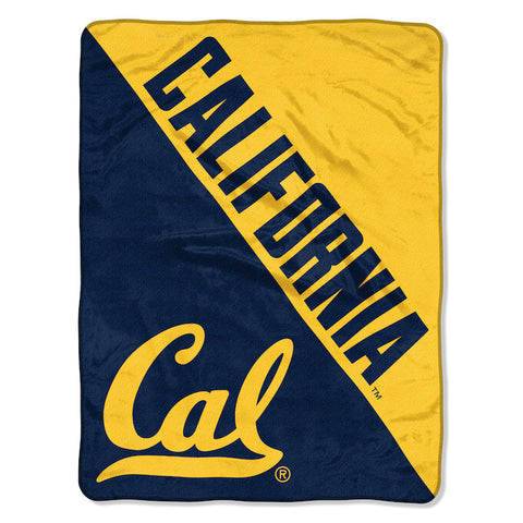 NCAA California Golden Bears Micro Raschel Throw - Bed, Bath, And My Team