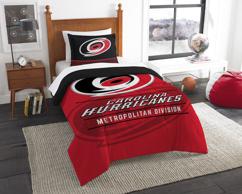 Carolina Hurricanes twin comforter and pillow sham