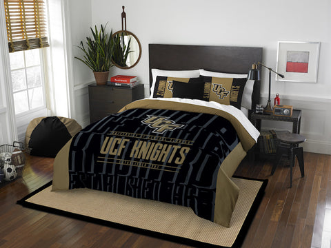 NCAA Central Florida Knights Queen/Full Comforter and Sham Set - Bed, Bath, And My Team