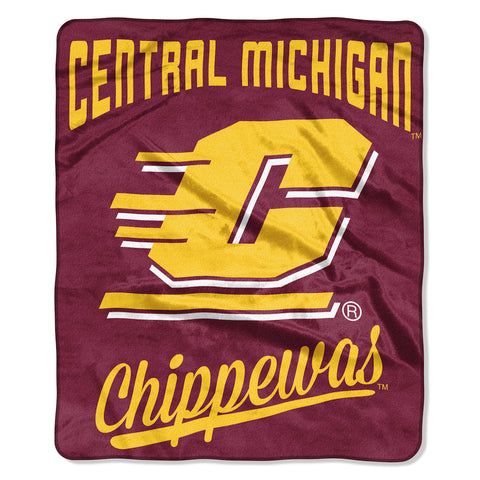 NCAA Central Michigan Chippewas 50 x 60 Alumni Raschel Throw Blanket - Bed, Bath, And My Team