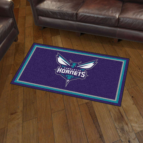 NBA Charlotte Hornets 3 X 5 Ft. Plush Area Rug - Bed, Bath, And My Team