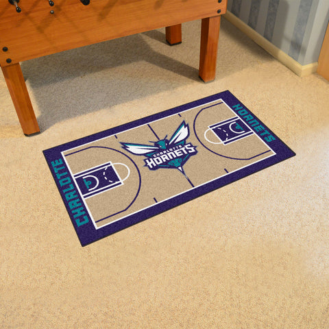 NBA Charlotte Hornets LARGE Basketball Court Carpet Runner Rug - Bed, Bath, And My Team