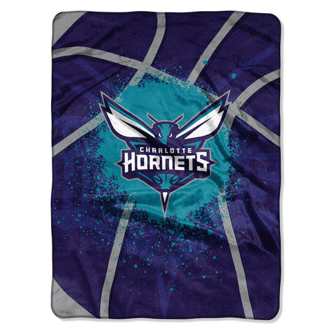 NBA Charlotte Hornets 60 x 80 Large Plush Raschel Throw Blanket - Bed, Bath, And My Team