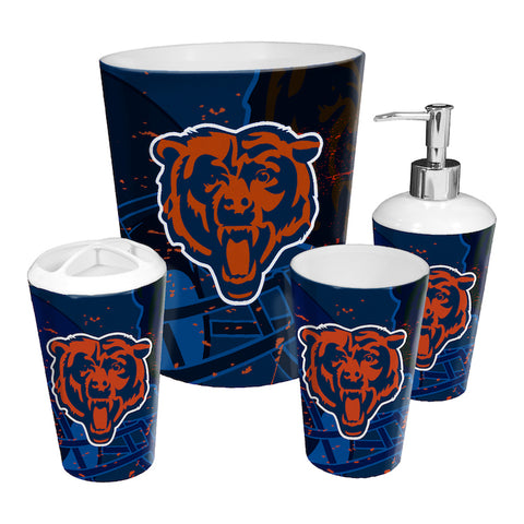 Chicago Bears bathroom accessory set