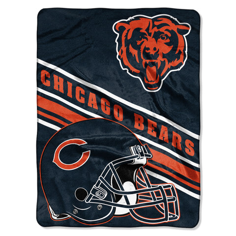 Chicago Bears large plush blanket