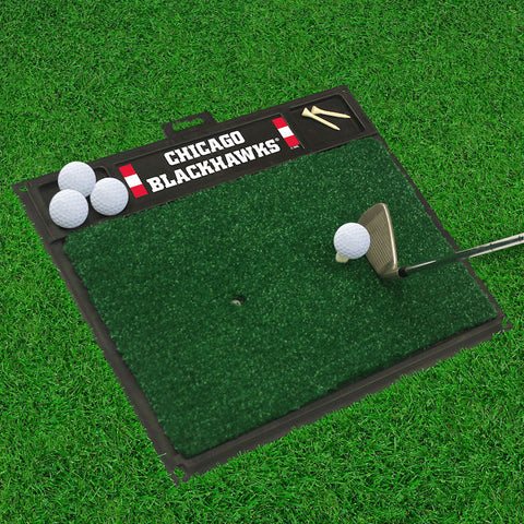 Chicago Blackhawks Golf Ball Hitting Mat
