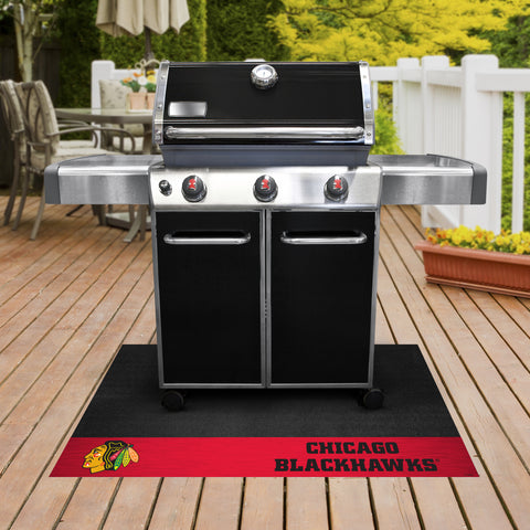Chicago Blackhawks Grill Mat