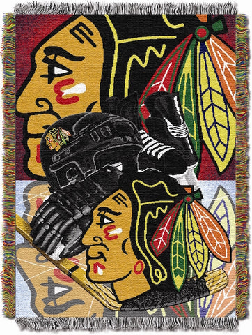 Chicago Blackhawks Home Field Advantage Tapestry
