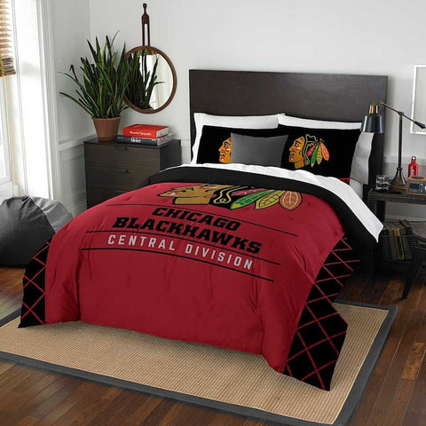 Chicago Blackhawks queen/full comforter and 2 shams