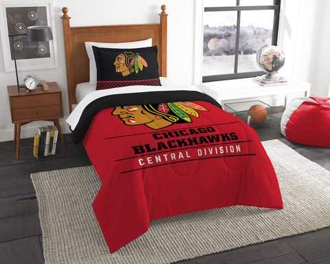 Chicago Blackhawks twin comforter and pillow sham