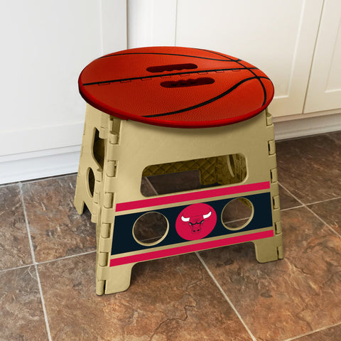 NBA Chicago Bulls Folding Step Stool - Bed, Bath, And My Team