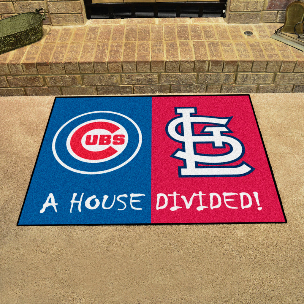 Buy Mlb Rivalry Rug Chicago Cubs St Louis Cardinals