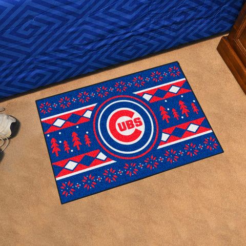 MLB Chicago Cubs CHRISTMAS SWEATER Starter Rug - Bed, Bath, And My Team