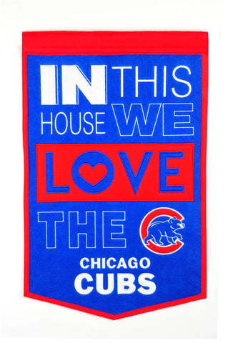 MLB Chicago Cubs HOME Hanging Wool Banner - Bed, Bath, And My Team